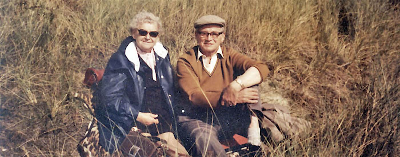 altes Paar in den Dünen