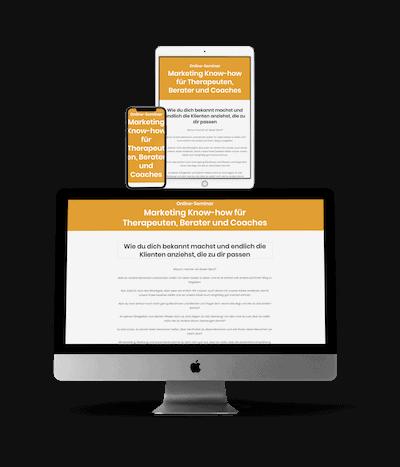 Onlinekurs Marketing für Berater, Therapeuten und Coaches